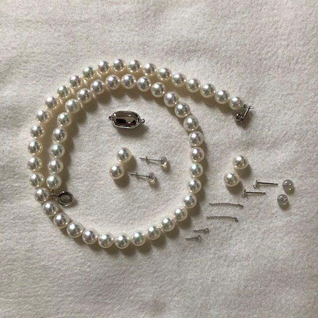 無調色の花珠真珠